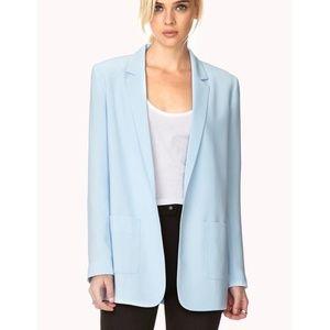 Forever 21 light blue blazer size small
